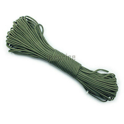 OD Green Parachute Cord Paracord 550 7 core Strand 100FT camping tent rope