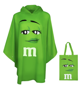 M-amp-m-039-s-World-Verde-Caracteres-Poncho-en-Bolsa-Talla-Unica-Nuevo-con-Etiqueta