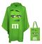 M-amp-m-039-s-World-Verde-Caracteres-Poncho-en-Bolsa-Talla-Unica-Nuevo-con-Etiqueta miniatura 1