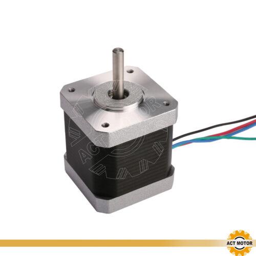 Act motor GmbH 3pcs nema 17 motor PAP 17hm5417 1.7a 48mm 0.9 ° 0.4nm φ5mm del CNC