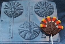 TURKEY DECORATE CORN FEATHERS CHOCOLATE LOLLIPOP THANKSGIVING  CANDY MOLD PARTY
