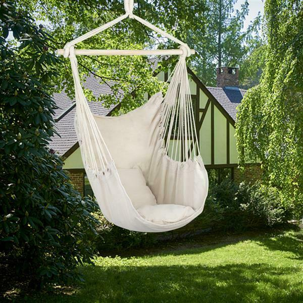 Sunmerit Hanging Rope Hammock Chair Swing Seat For Indoor Or Outdoor Spa For Sale Online Ebay
