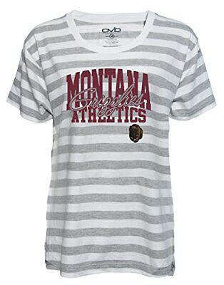 Old Varsity Brand NCAA Montana Grizzlies Ladies Tri-Blend V-Neck T-Shirt Maroon X-Large