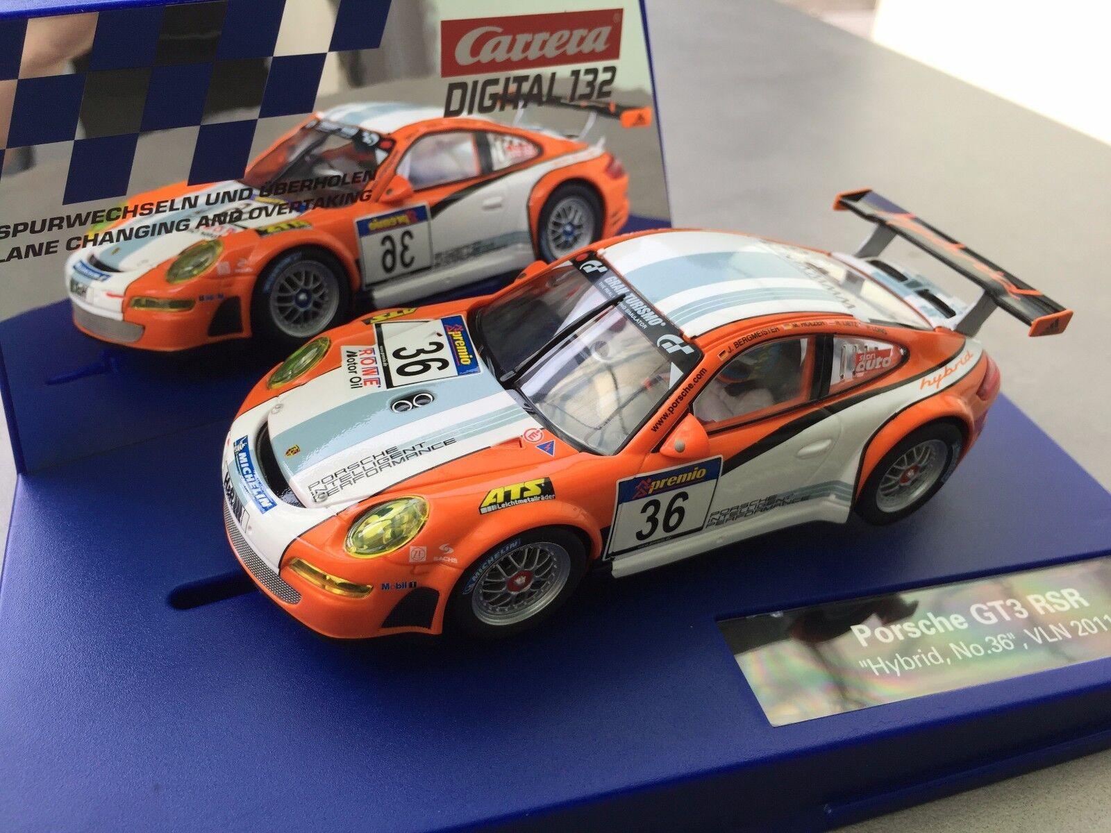 Carrera Digital 132 30714 Porsche GT3 RSR   Hybrid, no. 36   VLN 2011 NIP