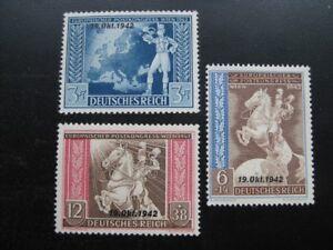 THIRD-REICH-1942-mint-MNH-European-Postal-Congress-overprint-stamp-set-CV-12-00