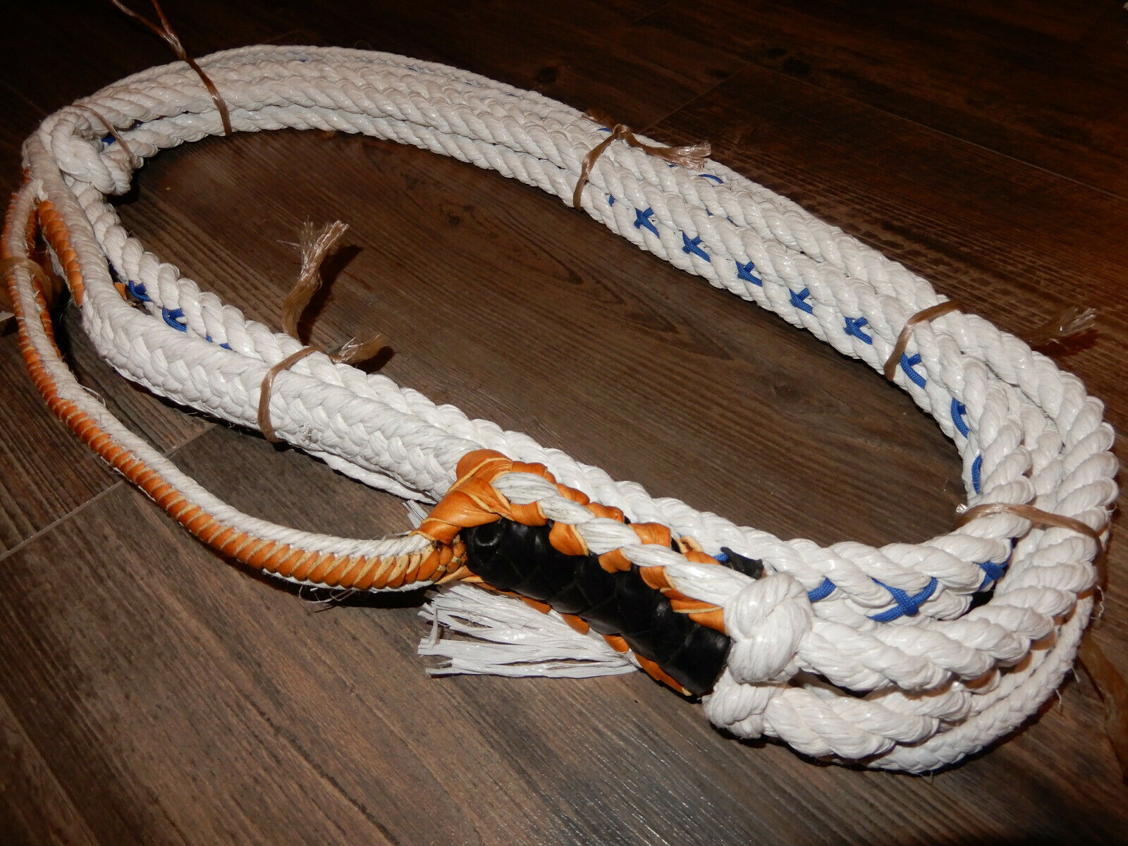 Bull Cuerda Poly blancoo Personalizado Pro 9 7 Derecho Mano Cocodrilo Bull a caballo Toro Rider