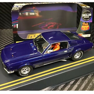 Pioneer-P055-DS-Mustang-Fastback-GT-Blue-Route-66-Slot-Car-1-32-Scalextric-DPR