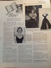 73-1 Ephemera 1957 Article 1 Page Julie Harris Fashion Designer