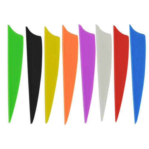 "36pcs 1.75/"" 2/"" 2.5/"" 3/"" Rubber Vanes Archery Arrow Fletching Shield DIY Feather"