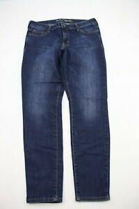 Old-Navy-Womens-Jeans-Size-8-Short-Rockstar-Dark-Blue-Denim-Slim-Skinny-Crop