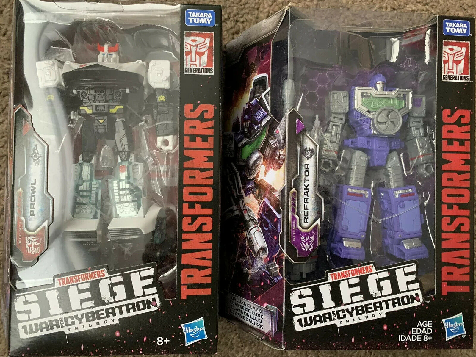 Transformers Hasbro War For Cybertron Siege Deluxe Refraktor & Prowl