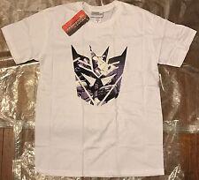 Nuevo Oficial Transformers dconz Escudo Megatron para hombres camiseta Medio Blanco