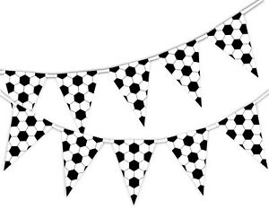 Football-Pattern-World-Cup-Bunting-Banner-15-flags-by-PARTY-DECOR