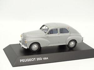 Norev-Presse-1-43-Peugeot-203-1954-Grise
