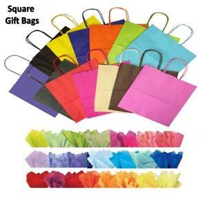 30-x-quadrato-in-carta-per-feste-Sacchetti-regalo-amp-tessuto-WRAP