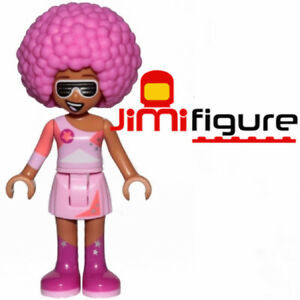 NEW-LEGO-Minifigure-Melody-The-Movie-2-70828-Genuine-Pop-Up-Party-Bus-Pink-Affro