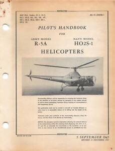 1945 aaf sikorsky r 5 dragonfly helicopter flight manual aircraft rh ebay com Helicopter Flight Simulator Controls Helicopter Simulator Controls