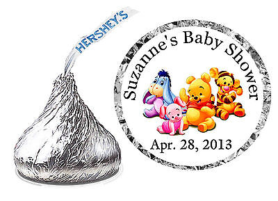 216 WINNIE THE POOH BABY SHOWER FAVORS HERSHEY KISS LABELS