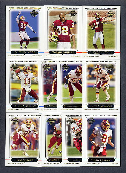 2005 Topps Washington Redskins TEAM SET - MINT