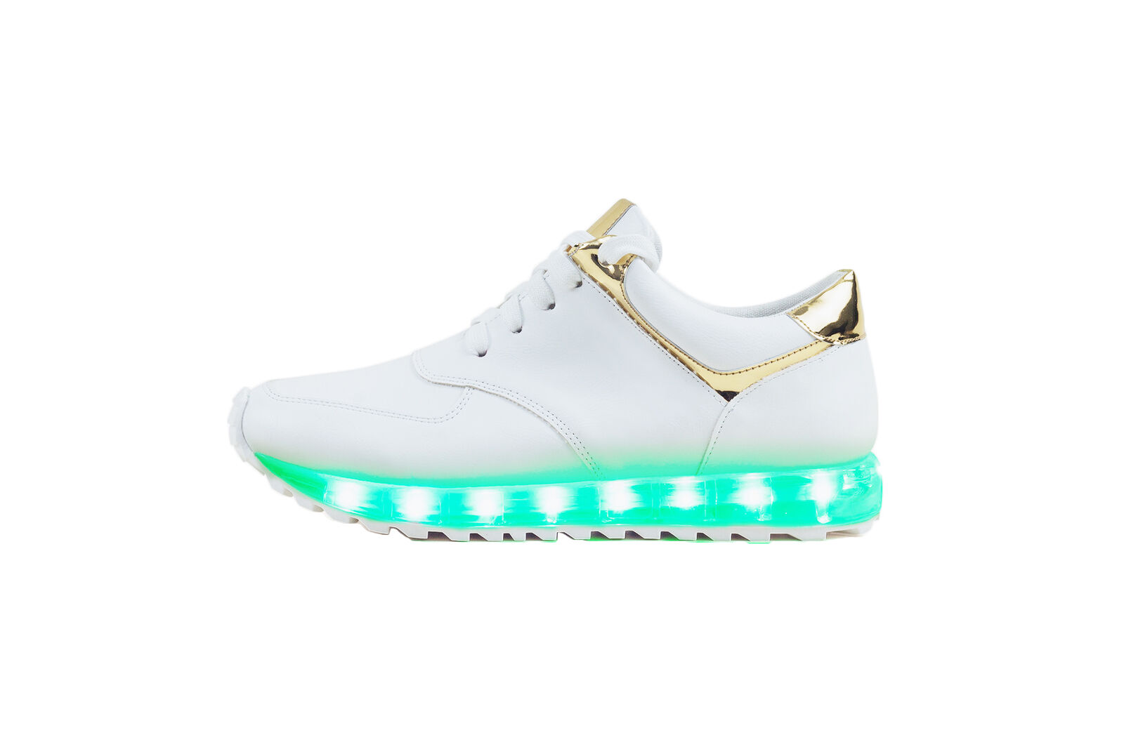 MO68 Colossal Women LED Light Up Low Top Fashion Sneakers White