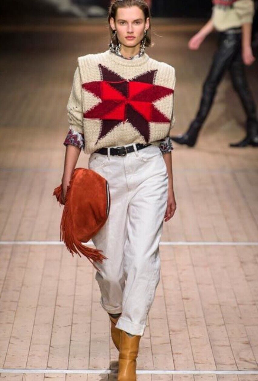 NWT Org. 885 ISABEL MARANT Hanoi patchwork jumper 38FR (Sold Out  Everywhere )