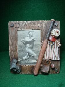 """Baseball Themed Picture Frame, Pre-owned 3.5"""" X 5.5"""""""