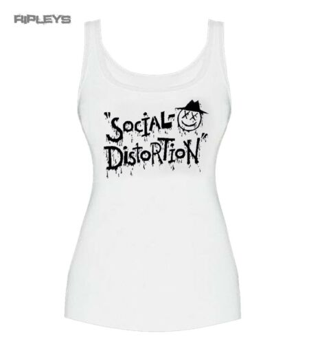 Official Skinny Vest Top White Social Distortion Punk /'XD EYE/' All Sizes