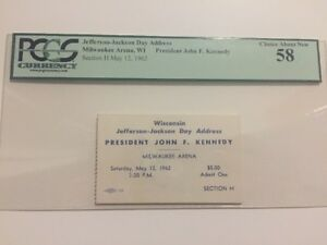 1962-President-John-Kennedy-Wisconsin-Jefferson-Jackson-Day-Address-Ticket-PCGS