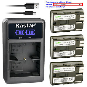Kastar-Battery-LCD-Charger-for-Canon-BP-511-BP-511A-amp-Optura-50MC-Optura-100MC