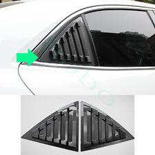 2x For Chevrolet Malibu 11 14 Rear Triangular Window Abs Carbon Fiber Cover Trim Fits 2012 Malibu