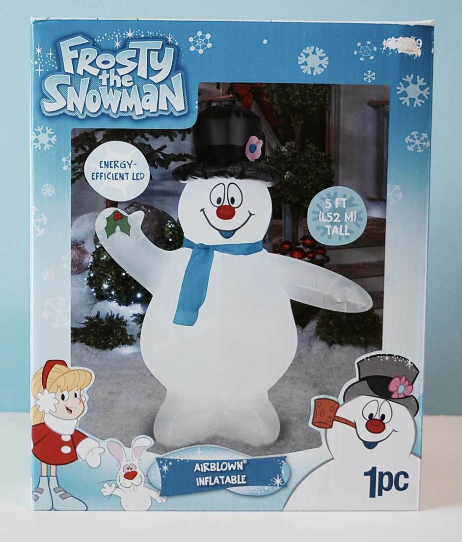 Frosty the Snowman Airblown Inflatable 5 Ft New in in in Box Gemmy LED 1358d0