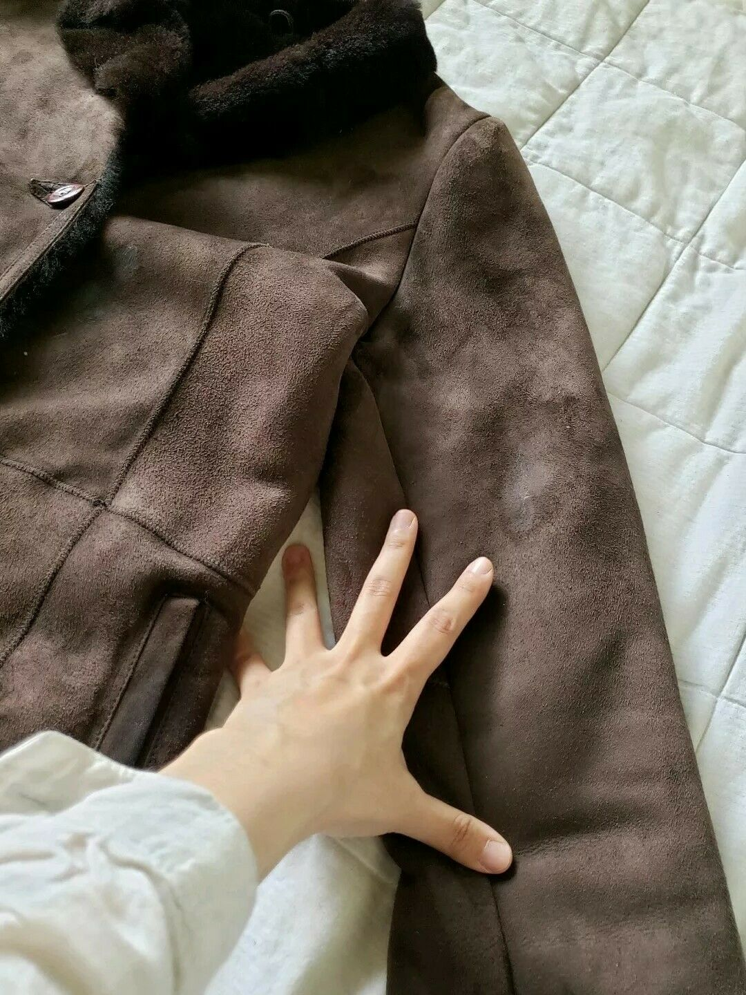 The Limited genuine full length shearling coat sl… - image 8