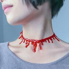 Heiße 1Pc Handgemachte Schneiden Bloodstain Halskette Halloween Cosplay Props