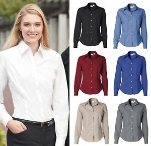 VAN-HEUSEN-LADIE-039-S-WOMEN-039-S-SILKY-POPLIN-LONG-SLEEVE-SHIRT-13V0114-13V0113-NEW
