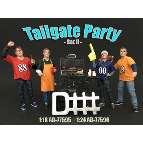 1 18 18 18 scale -Tailgate Party Set II -  AMERICAN DIORAMA - figure figurine 077648