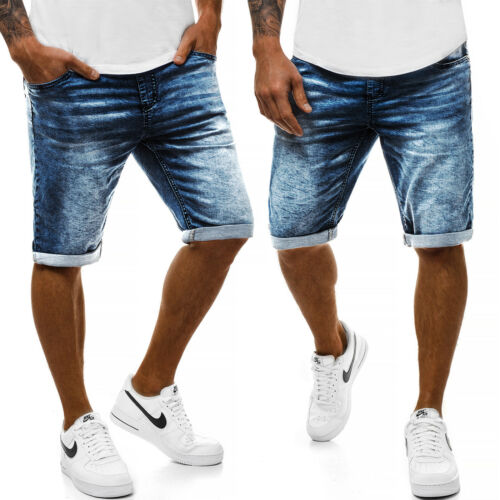 Pantaloni corto Shorts Pantaloni Jeans Bermuda Jeans Classic Casual Uomo OZONEE 9684 MIX