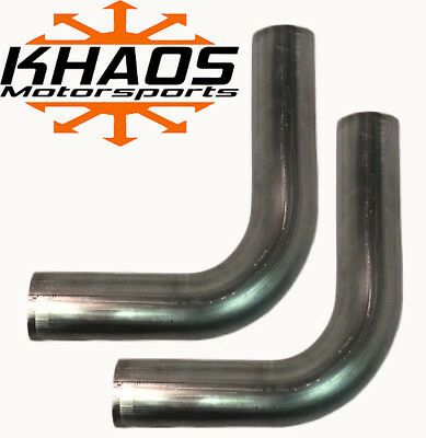2 180 degree 45 Degree U J Combo Exhaust Turbo Pipe Mandrel Bend Aluminized Mild Steel Khaos Motorsports 2 Pack