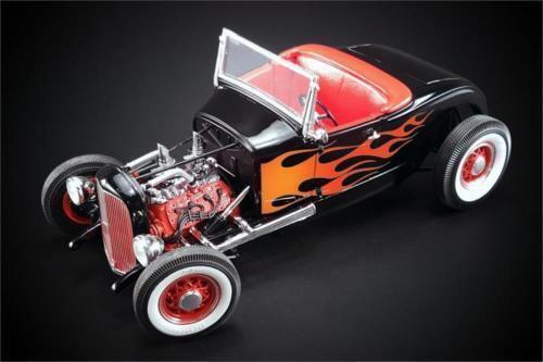 ACME 1929 Ford Hot Rod noir avec flammes 1 18New