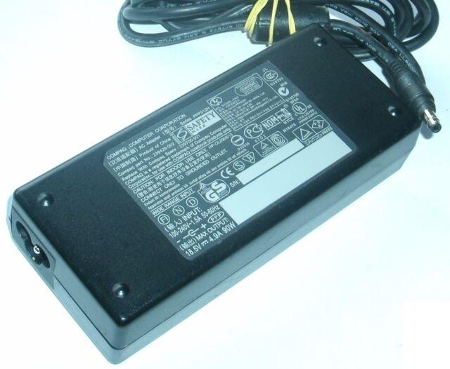 Compaq HP AC Adaptador PPP012H 18.5V 4.9A 239428-002 239705-001