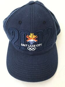 0f358bb5129 2002 salt lake city olympics SnapBack Hat Cap Embroidered Blue ...