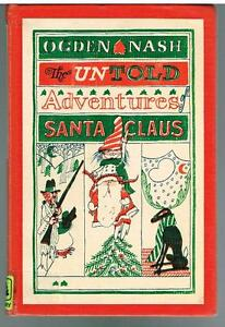 The-Untold-Story-of-Santa-Claus-by-Ogden-Nash-1964-1st-Ed-Rare-Antique-Book