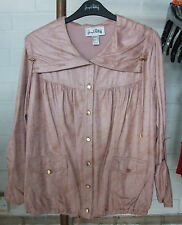 Joseph Ribkoff UK 10 BNWT Beautiful Pink Suedette Soft Top / Button Down Jacket