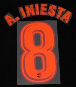 official photos f4621 a4ee6 Details about Barcelona A.iniesta 8 2017/18 Football Shirt Name/Number Set  Sporting ID Adult T