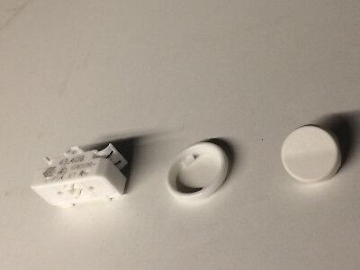 Lampen Einbau-Wippschalter schwarz runde Wippe BJB 43.409