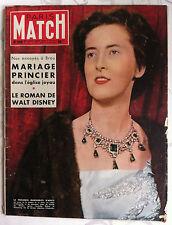 Paris Match du 2/01/1954; Mariage Princier/ Le roman de Walt Disney/ Aoste