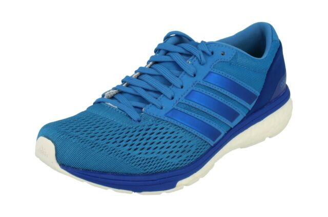 27dc594634efe3 adidas Adizero Boston Boost 6 Womens Blue Cushioned Running Shoes ...