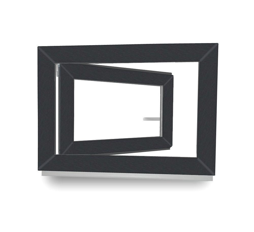 Kunststofffenster Kellerfenster Fenster Garagenfenster Anthrazit Lagerware