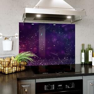Mon ChéRi Verre Splashback Cuisine & Salle De Bain Panel Toute Taille Violet Bokeh Glitter 0399-afficher Le Titre D'origine