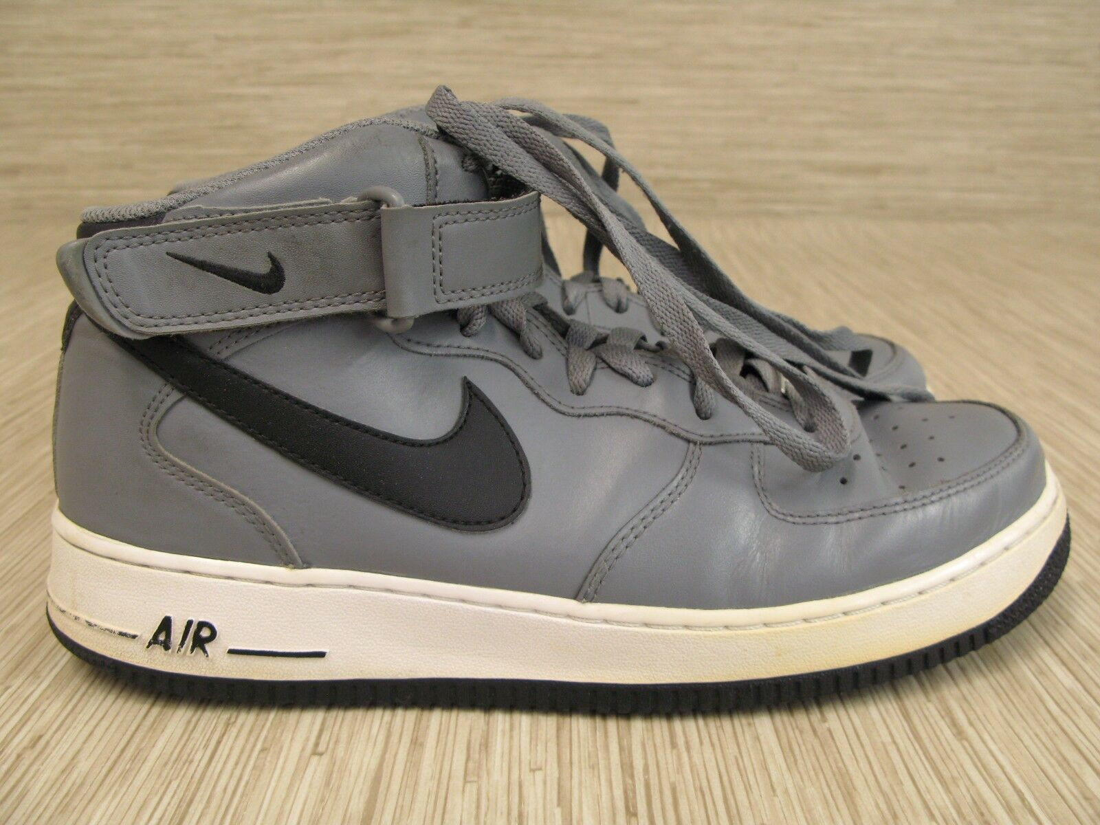 Nike Shoes Air AF1 Gray Leather Shoes Nike Men's Size US 10.5 Hightop Basketball 087fdc