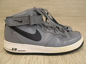 Nike Air AF1 Gray Leather Shoes Men's